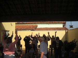 Aula de ginástica para os idosos do Lar