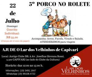 Read more about the article Evento em Prol ao Lar dos Velhinhos de Capivari – Porco no Rolete