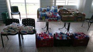 SICOOB COOPLIVRE e UNIMED CAPIVARI fazem Doação de Leite e Alimentos