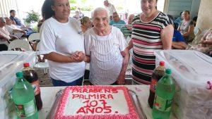 Read more about the article Moradora  do Lar dos Velhinhos Palmira Vitturi Giacometti completou 107 anos