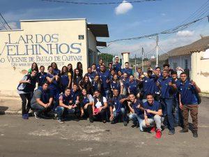 CIEE – Centro de Interação Empresa e Escola da cidade de Capivari-SP visitam o Lar dos Velhinhos