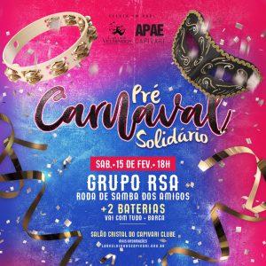 Read more about the article 2º Pré Carnaval Solidário em Prol ao LAR DOS VELHINHOS e APAE CAPIVARI