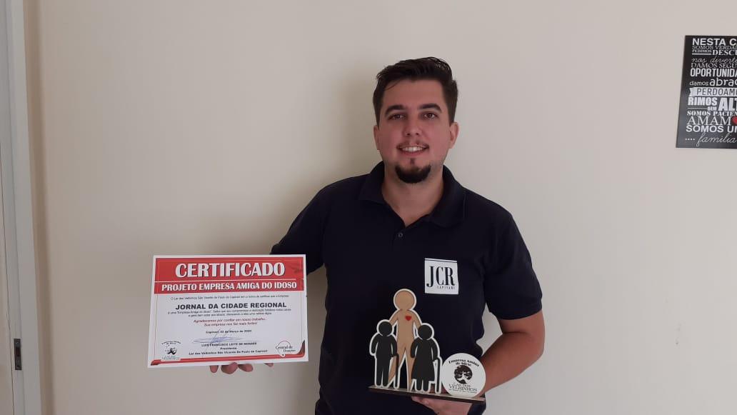 JORNAL DA CIDADE REGIONAL DE CAPIVARI  faz parceria no Projeto Empresa Amiga do Idoso