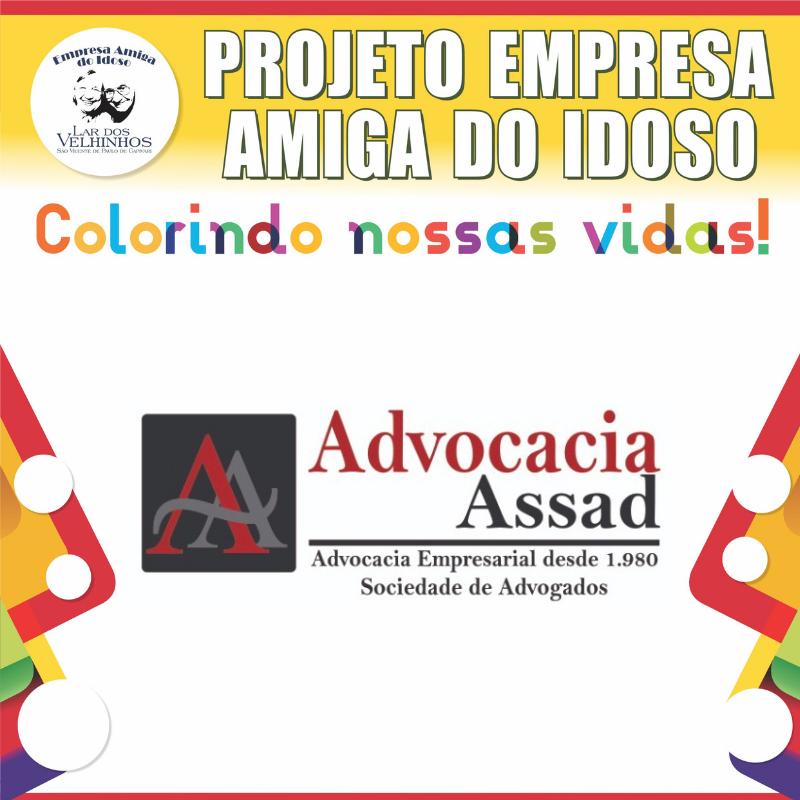 ADVOCACIA ASSAD SOCIEDADE DE ADVOGADOS fecha parceria no Projeto Empresa Amiga do Idoso