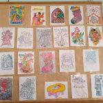 Refeitório - Painel de desenhos
