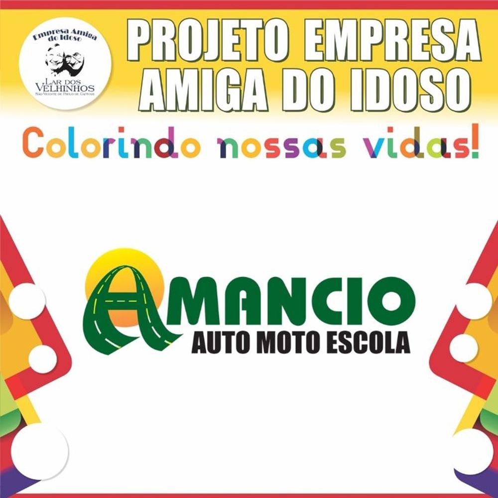 AMÂNCIO MOTO AUTO ESCOLA fecha parceria no Projeto Empresa Amiga do Idoso