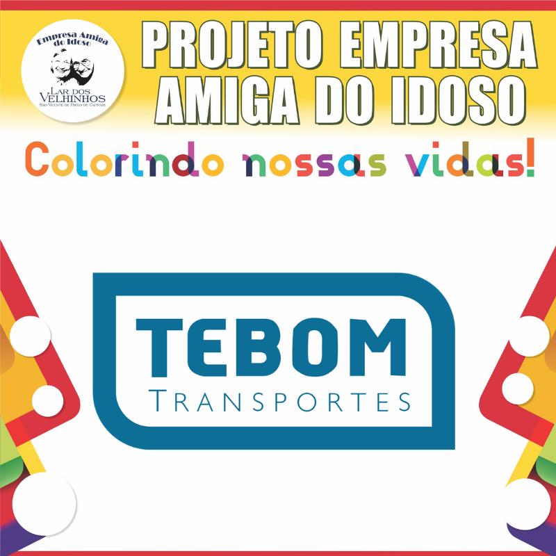 TEBOM TRANSPORTES fecha parceria no Projeto Empresa Amiga do Idoso