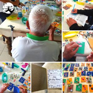 Read more about the article Oficina de Artes – Moradores fazem a Lembrança do dia das mães