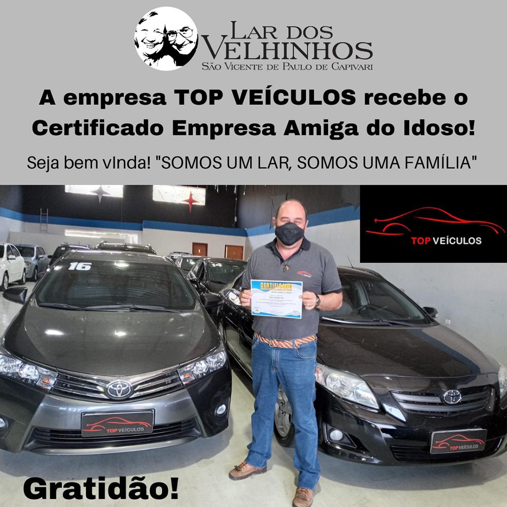 TOP VEÍCULOS recebe o Certificado Empresa Amiga do Idoso