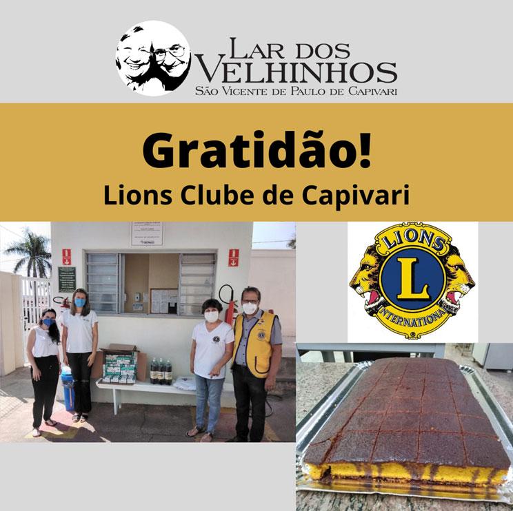 Read more about the article Lions Clube de Capivari faz doações de Luvas, Bolo e Refrigerantes